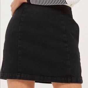 Topshop moto jeans skirt faded black size 14